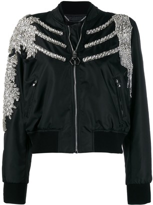 Philipp Plein Crystal bomber jacket