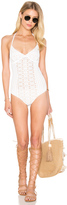 Nightcap Clothing Spiral Lace One Piece Swimsuit