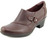 Clarks Genette Harper Women Round Toe Leather Burgundy Clogs.