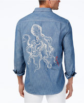 Tommy Bahama Men's Linen Kraken Me Up Embroidered Chambray Shirt
