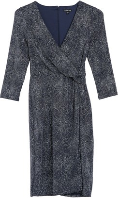 Marina Surplice Neck Wrap Dress