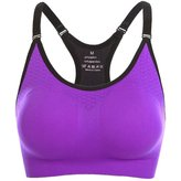 Befamous Women's Padded Sports Bras Wire Free High Impact Support Seamless Yoga bra