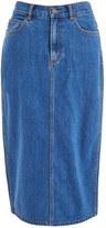 Marc by Marc Jacobs Women's Denim Skirt Bright Blue