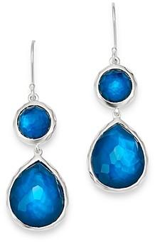 Ippolita Sterling Silver Wonderland Double-Drop Gemstone Earrings
