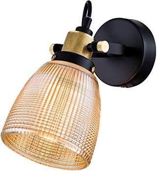 Maytoni LOFT Industrial Modern Sconce/Wall Lamp Orange Glass Shade Black Metal Frame excl. 1 Bulb x E27 40W