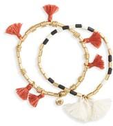 Madewell Women's Set Of 2 Tassel Stretch Bracelets