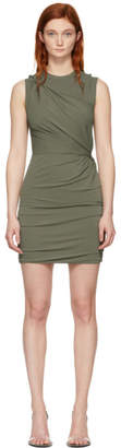 Alexander Wang Khaki Twisted Minidress