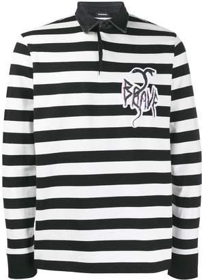 Diesel striped rugby shirt