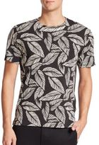 Rag & Bone Leaf-Printed Jersey Knit Tee