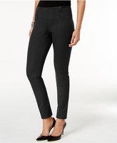 Alfani Petite Zip-Trim Skinny Pants, Only at Macy's