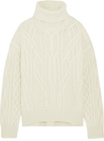 Nili Lotan Cecil Cable-knit Cashmere Turtleneck Sweater - Cream