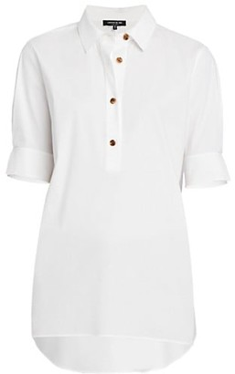 Lafayette 148 New York Stretch Cotton Boyes Shirt