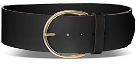 BCBGMAXAZRIA Women's Wide Leather Waist Belt