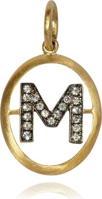 Annoushka Yellow Gold and Diamond Initial M Pendant