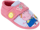 Peppa Pig Children's Rainbow Slippers, Pink