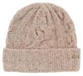 HUGO BOSS Multi-coloured cable-knit beanie hat