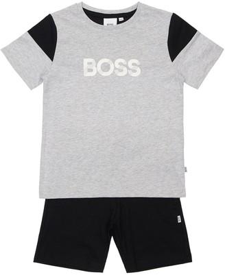 HUGO BOSS Cotton Jersey T-shirt & Shorts