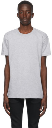 Naked and Famous Denim Grey Circular Knit T-Shirt