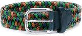 Etro woven belt - men - Leather - 95