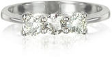 Forzieri 0.63 ctw Diamond 18K White Gold Trilogy Vanity Ring