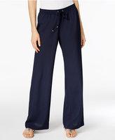 Calvin Klein Drawstring Wide-Leg Pants