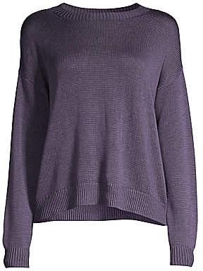 Eileen Fisher Women's Round-Neck Silk Sweater