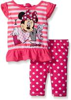 Disney Little Girls 2 Piece I Love Minnie Top and Printed Legging