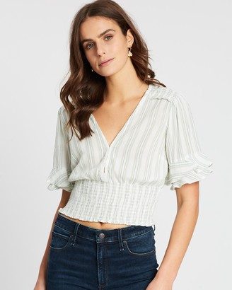Abercrombie & Fitch Smock Waist Blouse