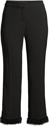 Lafayette 148 New York Manhattan Double-Face Flare Ankle Pants