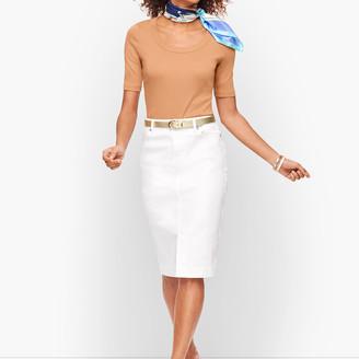 Talbots Denim Skirt - White