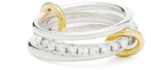 Spinelli Kilcollin Petunia Diamond, 18kt Gold & Sterling-silver Ring - Silver Gold