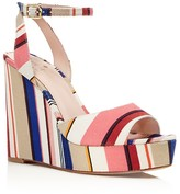 Kate Spade Dellie Striped Platform Wedge Sandals