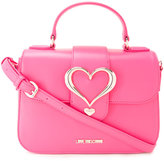 Love Moschino heart buckle cross body bag - women - Polyurethane - One Size