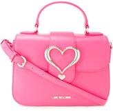 Love Moschino heart buckle crossbody bag - women - Polyurethane - One Size