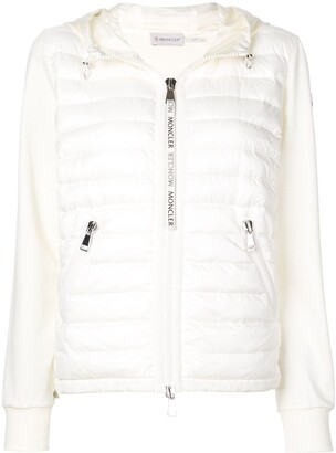 Moncler padded front zipped hoodie