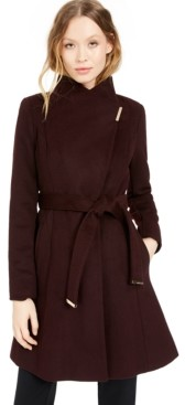 Michael Kors Michael Asymmetrical Belted Coat, Created for Macy's