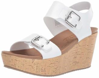 Skechers Women's BRIT-Go Getter-High-Wedge Quarter Strap Sandal