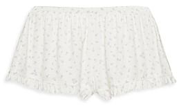 Eberjey Bloom Floral Print Ruffle Shorts