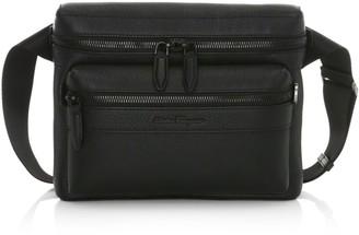 Salvatore Ferragamo Firenze Leather Messenger Bag