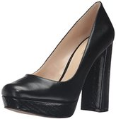 Nine West Women's Delay Leather Platform Pump