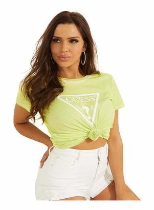 GUESS Women's Short Sleeve Classic Logo Easy Tee