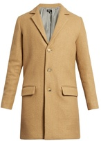 A.p.c. Lewis Notch-lapel Single-breasted Wool-blend Coat