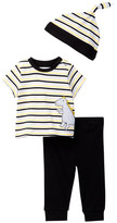 Offspring Dino Tee, Pant, & Hat Set (Baby Boys 3-9M)