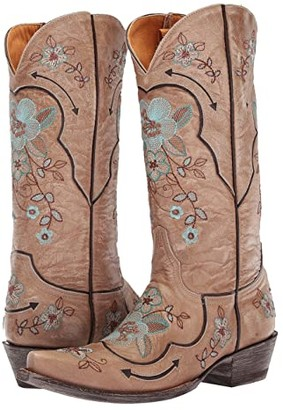 Old Gringo Bonnie Pipin (Bone/Chocolate) Cowboy Boots