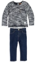 7 For All Mankind Infant Girls' French Terry Top & Skinny Jeans Set - Sizes 12-24 Months
