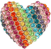 Betsey Johnson Rainbow Connection Heart Ring