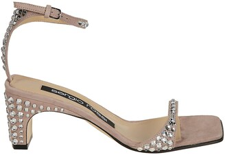 Sergio Rossi Embellished Open-Toe Sandals