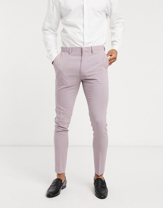 ASOS DESIGN super skinny suit trousers in dusty mauve