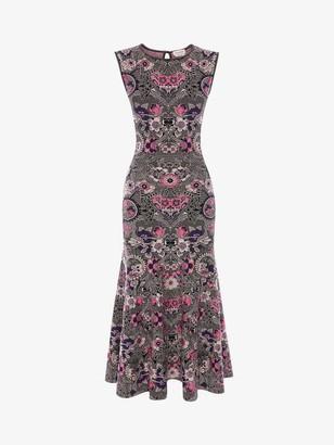 Alexander McQueen Art Nouveau Jacquard Midi Dress