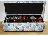 The Sole Secret Artic Prime Blue Shoe Storage Bench